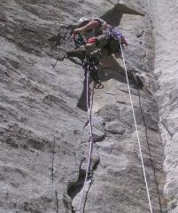 Practising aid on P1 of North America Wall