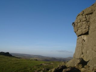 Soloist enjoying the great weather at Haytor.