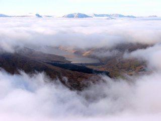 Temperature Inversion- on Meall Ghaordie
