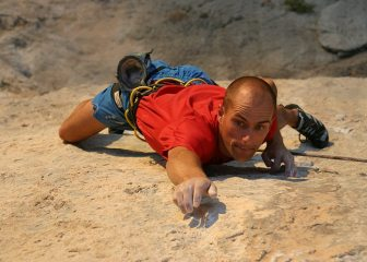How small?! Adrian going for another tiny hold on Spartan Wall (F8b+), Kalymnos