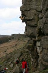 Ben Sutton, The Link E1 5b, Stanage