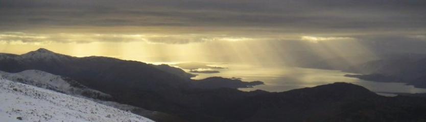 Rays of sun from Carn Dearg