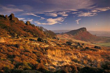 Winter sunset, The Roaches