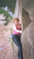 Jackie on Tyrone (VS 5a), Lawrencefield, Peak District