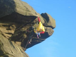 Gareth the welsh invader checking out the gritstone-