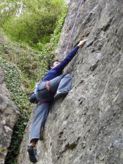 Pete giving it his all on an E2, Chudleigh