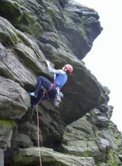 Lynn finishing her 40th Birthday climbs on Editor's Note