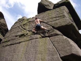 Hoods seconding The sole (HVS 5b) at Crookrise