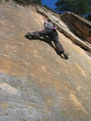 First E1 Solo **grin**  Also, I found out later, a first ascent!