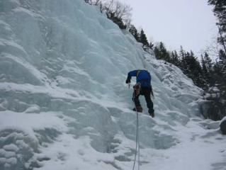 Rob Naylor on Susse's Veil III, Above Vemork, Rjukan, Norway