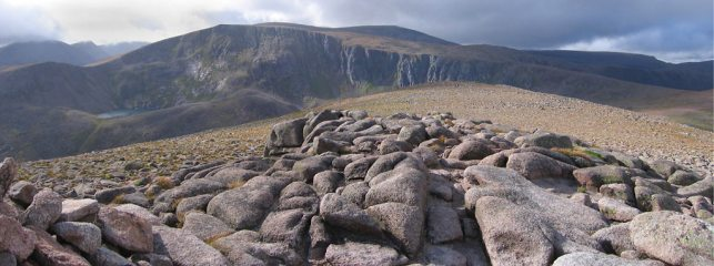Beinn Macdui and Coire Sputan Dearg from Derry Cairngorm