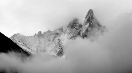August snowfall on Les Drus
