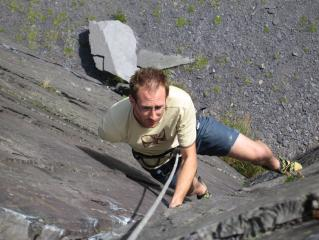 Climbing out of a sea of slate