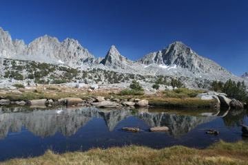 Peaks above the Dusy Basin, High Sierra