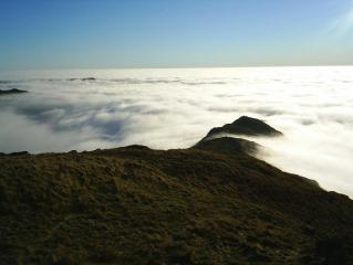 The island of Wansfell from High Pike, Cumbria.