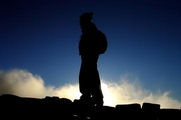 My brother on the Mourne wall christmas eve
