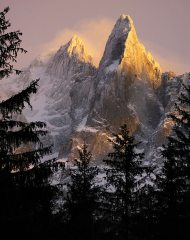 The Storm Clears, Les Dru, Chamonix.