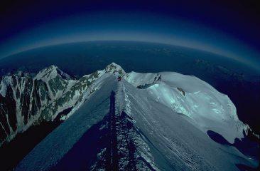 Mont Blanc peak, looking west.
