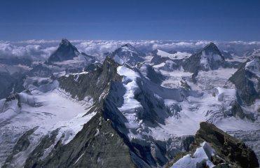 Weisshorn, Valais. View south.