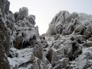 Early season conditions in Gully 1, Helvellyn