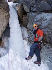 Morgan W and ice pillar ab off Erection WI5+
