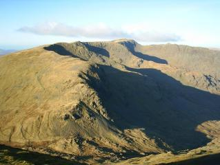 The winter coves of Dollywaggon Pike, Nethermost Pike, and Helvellyn