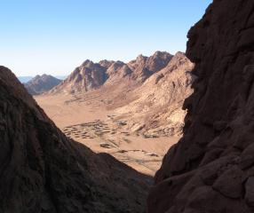 view from Jebal Safsafa, Sinai