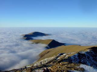 View from summit of Snowdon on Christmas eve 06