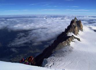 Chamonix and Midi from Mont Blanc du Tacul