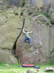 Andy on Peg Wall, V4