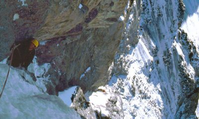 Dai Lampard on the Ramp on North Face of the Eiger