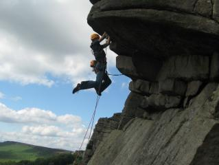Hanging Off Flying Buttress Direct