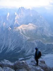 Descent off back of Cima Grande