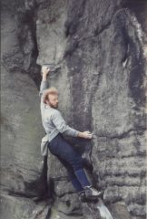 Duncan Drake soloing Wall of Horrors, E3 6a
