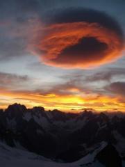 Sunrise from the triangle du Tacul