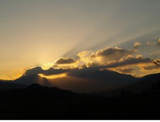 Sunset over snowdon horseshoe