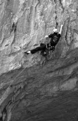 Jason on something hard, Cala Luna, Sardinia.