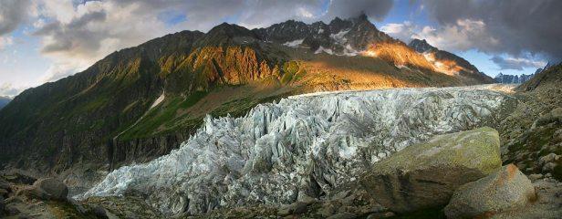 Snout of the Argentiere Glacier