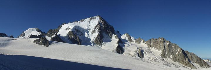 View of Chardonnet on the way up from Albert 1er hut to the Trient plateau