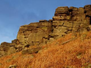 stanage in winter sun