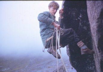 Aid climbing in Skye 1963