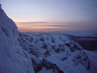 View from NE Buttress in fading light