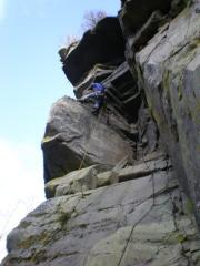 Sutty leading Cave Route*** (HS), Huntly's Cave.