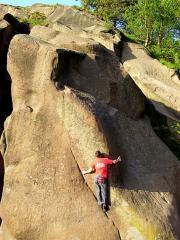 Ben H on The Runnel, E2 6b, Black Rocks