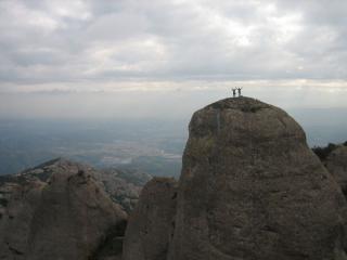 Lawrie and Dave atop Montserrat