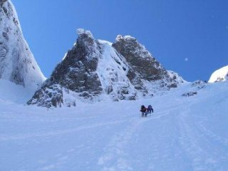 Moving up to Smith's Route, Ben Nevis