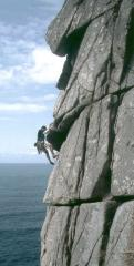Macca on Bow Wall E2 4b 5c 5b Bosigran Cornwall