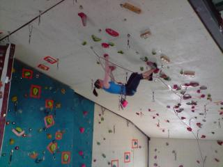 Jaime D on the final route of the Scottish Youth Championship