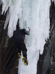 Ice Stal in the Upper Gorge, Rjukan, Norway 2006