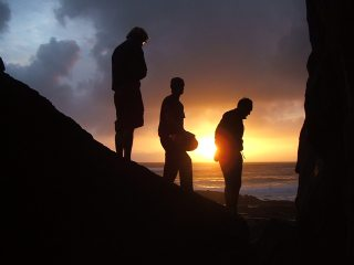 Evening Bouldering on the Culm Coast